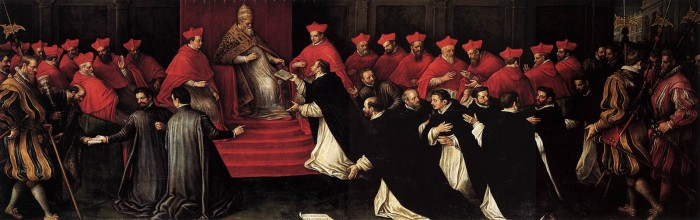 Leandro_Bassano_-_Honorius_III_Approving_the_Rule_of_St_Dominic_in_1216_-_WGA01467